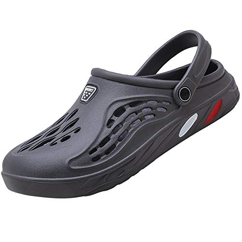 [Unitysow] サンダル メンズ スリッパ 水陸両用 メッシュ ビーチサンダル オフィスサンダル 超軽量 ベランダ 室内履き ルームシューズ サボサンダル 速乾 滑り止め スポーツサンダル、グレー、25.0 cm