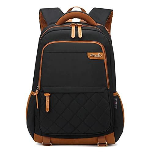 UKKO Zaino Backpacks Sacchetto della Scuola per Ragazzi Adolescente Oxford Grande capacità Solido Teen Scolaro Studente College Bagpack Uomini Bookbags Grande-Black