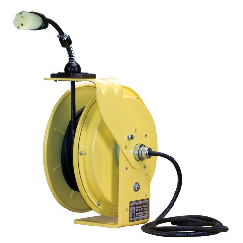 Lind Equipment LE9050123S2 Heavy Duty Cord Reel, 50ft 12/3 SJOW, 5-20P input, single 5-20R output, 20A rated, NEMA4, all-steel