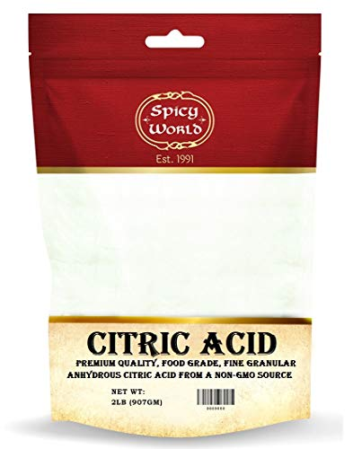 Pure Citric Acid, 2 lb - Food Grade & Non-GMO- Natural Food Preservative, Beauty Ingredient- by Spicy World