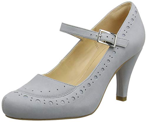 Clarks Damen Dalia Millie Pumps, Grau (Grey/Blue), 39.5 EU