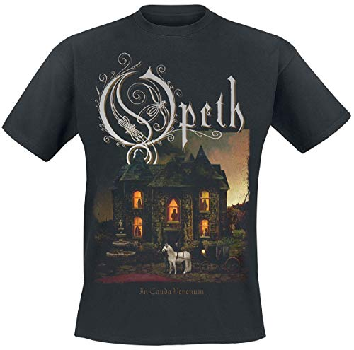 Opeth In Cauda Venenum Album Männer T-Shirt schwarz L 100% Baumwolle Band-Merch, Bands