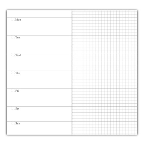 3-Pack Travelers Notebook Inserts Weekly Refills, 30 Weeks Per Book, 100g No Bleed Paper, Standard Size 4.25 x 8.25 Inch