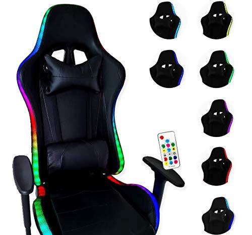 ZStyle Gaming-Stuhl mit LED-Licht, für Büro, Videospiele und Gaming, ergonomisch gepolstert, Schreibtisch Computer Playstation GTX (ohne Powerbank)