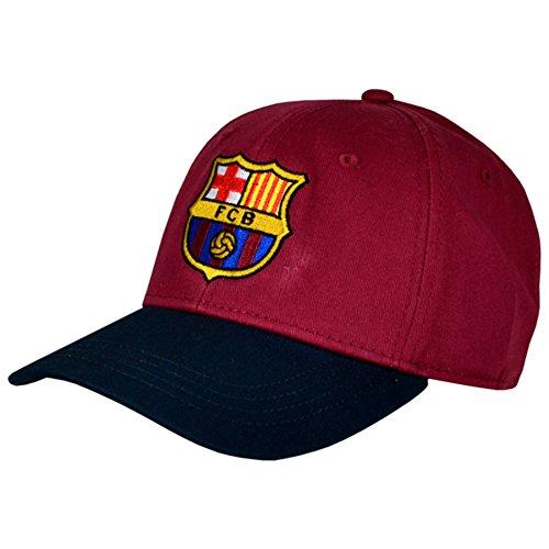 FC Barcelona - Gorra de béisbol de FC Barcelona unisex (Talla Única/Grana/negro)