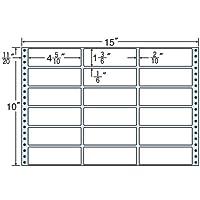 東洋印刷 タックフォームラベル 15インチ ×10インチ 18面付(1ケース500折) MX15F