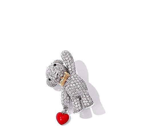 aimaoer Exquisite Bär Brosche Weibliche Accessoires Süße Student Jacke Strickjacke Kleidung Pin Ornament