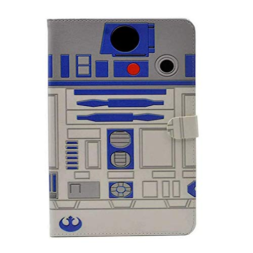 iPad Mini 4 7.9 inch Case, R2D2 Robot Pattern Leather Flip Stand Case Cover Slim Book Shell Stand Case Cover for iPad Mini 5 5th ,iPad Mini 4 (2015 / 2019 Released)