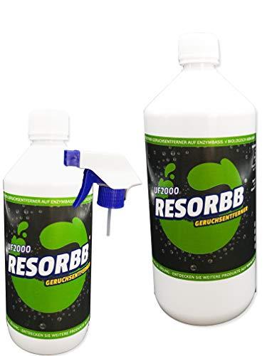 RESORBB® UF2000 Geruchsentferner 1l. + 0,5 Liter-Sprühflasche EIN geruchsneutraler, effizienter Geruchsentferner