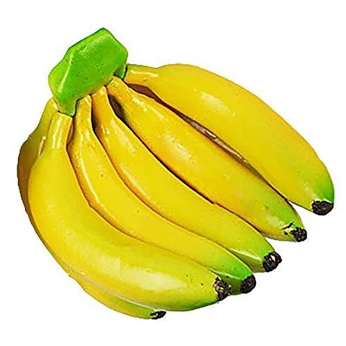 LINMAN Artificial plátano Realista Espuma Artificial Fruta Fake fax Fauna fotografía Accesorios...