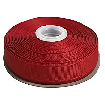 DUOQU 7/8 inch Wide Grosgrain Ribbon 25 Yards Roll Multiple Colors Red