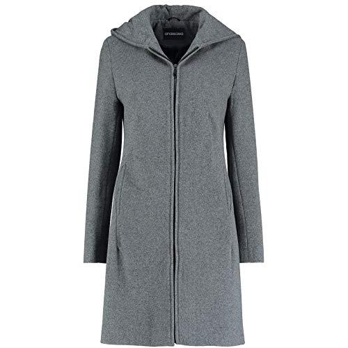 De La Creme Womens grijs kasjmier wol met capuchon winterjas maat 12