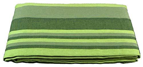 CASA TESSILE Kiara Rigato copriletto copridivano Telo arredo cm 180x260 - Verde