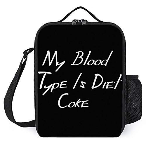 zhongmin My Blood Type is Diet Coke Best Gift Jigsaw Puzzle -(1) Portable Lunch Bag/Lunch Box/Lunch Tote/Picnic Bags Insulated Cooler Travel Organizer