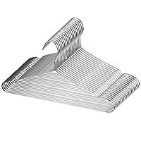 Cozyone ハンガー ステンレスハンガー 20本組 物干しはんがー 洗濯 ハンガー 頑丈 錆びにくい 曲がらない hanger 収納便利 スカート ズボン コート ハンガー ボトムハンガー すべらない 3.2mm 幅42cm