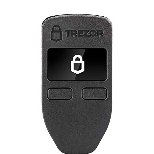 Trezor One - Cryptocurrency Hardware Wallet - The Most Trusted Cold Storage für Bitcoin, Ethereum, ERC20 und Viele Mehr (Schwarz)