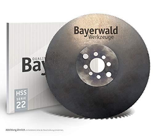 Bayerwald – Hoja de sierra circular HSS – 250 x 2 x 32 dientes forma: HZ (128 dientes) para la edición de hierro y acero