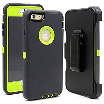 iPhone 6 Case iPhone 6s [Heavy Duty Protection] [with Kickstand] 4 in 1 Rugged Shockproof Cover Holster Case with Built-in Screen Protector for Apple iPhone 6/6S