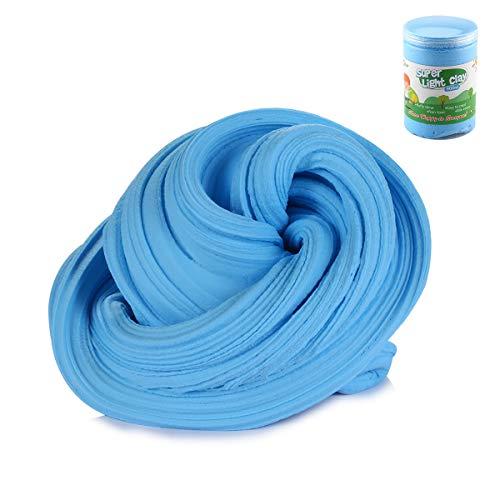 Luclay DIY Fluffy Schleim Kinder Putty Spielzeug Geschenke Slime Stress Relief Toy für Kinder und Erwachsene Weich (Blau)