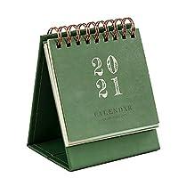 2021年 カレンダー 壁掛け 卓上 ミニカレンダー カレンダー デスクカレンダー 持ち運び 通年 学校 グリーン