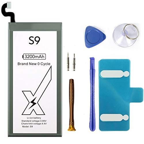 DEJIMAX Alta Capacidad 3200mah Reemplazo de Batería S9 para Samsung Galaxy S9, Batería de Litio de Alta Capacidad 3200mah para S9 / G960F / EB-BG960ABE