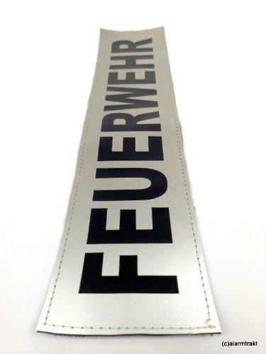 FEUERWEHR 3M Reflex-Rückenschild 38x8cm matt silber