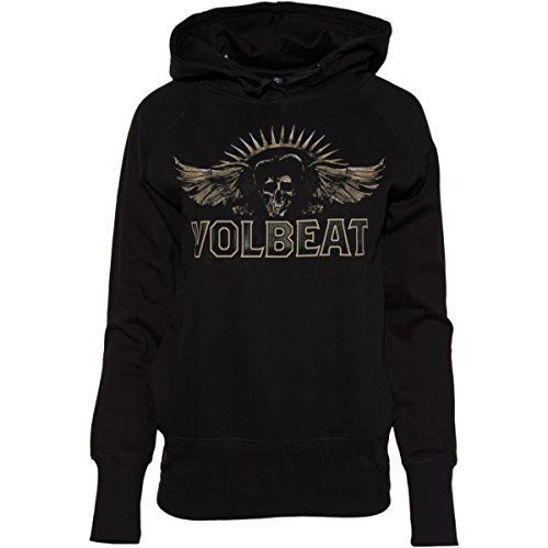Volbeat Seal The Deal Skullwing LADYHOODY Schwarz L