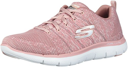 Skechers Damen Flex Appeal 2.0 Sneaker, Rose, 38 EU