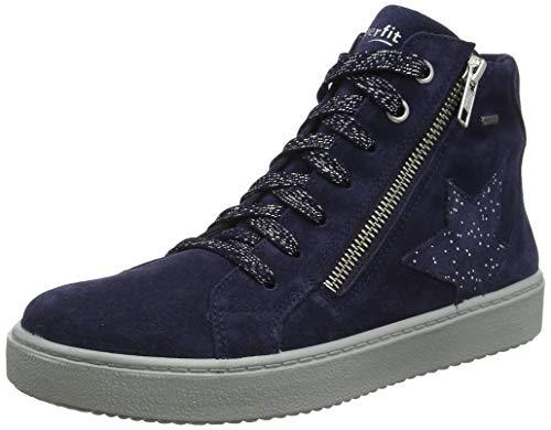 Superfit Mädchen Heaven Gore-Tex Hohe Sneaker, Blau (Blau 80), 34 EU