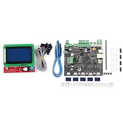 Panjianlin Placa Base de la Impresora 3D 12864 LCD + LCD gráfico Kit Adaptador for Impresora 3D Reprap máquina de Grabado Smoothieboard 5X V1.1 Arm Open Source Mainboard Mejor disipación del Calor
