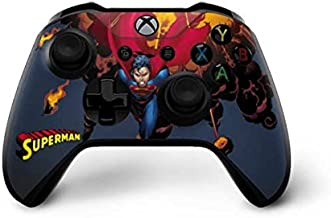 Skinit Decal Gaming Skin for Xbox One X Controller - Officially Licensed Warner Bros Superman on Fire Design