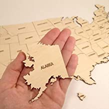 laser cut wood maps