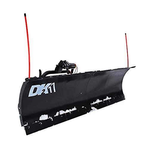 DK2 AVAL8219 Universal SUV/Truck Heavy Duty Snow Plow Kit 82 x 19 x 2 Inch Receiver Mount, Black