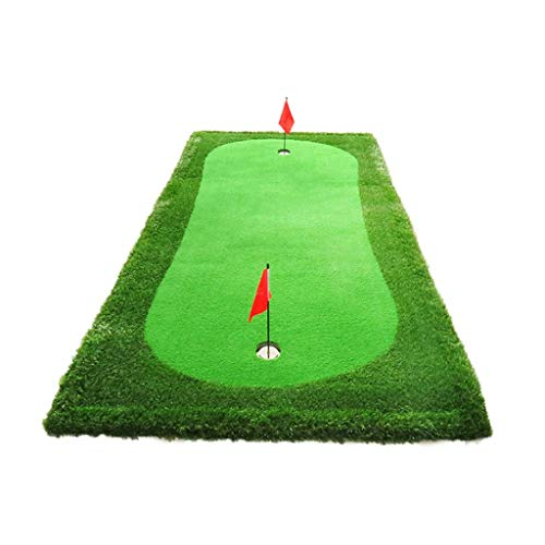 Best Deals! LC_Kwn Residential Golf Mat Premium Portable Turf. Practice Hitting and Chipping Indoors...