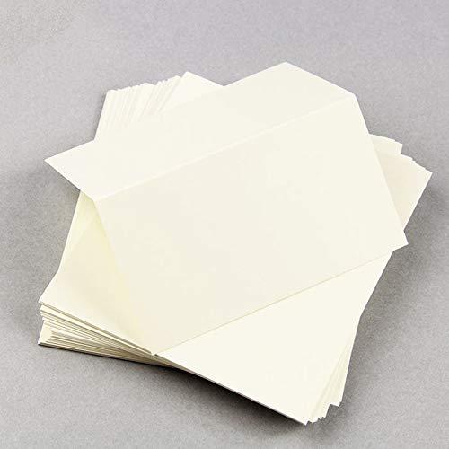 Ecru Folded Place Card - LCI Smooth 100C, 25 Pack
