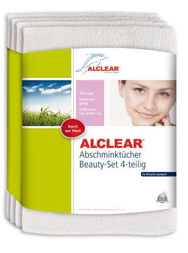ALCLEAR 4er Set Abschminktücher Abschminkpads, waschbare Abschminkpads, porentief und hautschonend, umweltfreundlich sanft nur mit Wasser ohne Reiniger Kosmetik Gesichtswasser, Gesichtspflege