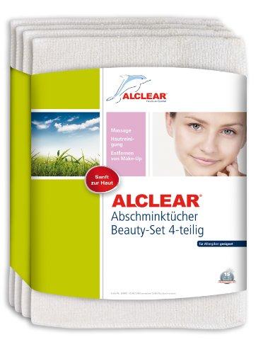 ALCLEAR 4er Set Abschminktücher Abschminkpads aus hautfreundlicher Ultra-Microfaser bei...