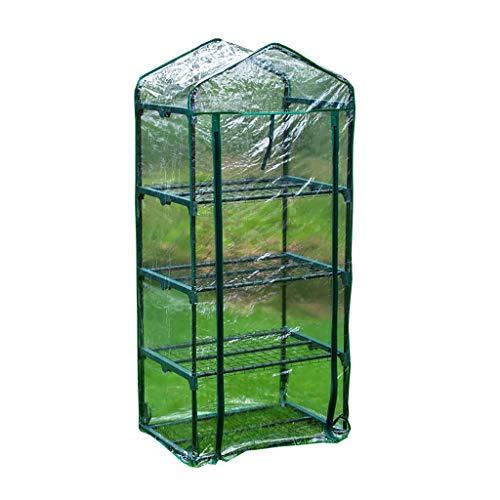 Serres, Mini Plastique PVC à Effet de, Jardin des Plantes d'extérieur Green House Blind Roller for Intérieur Extérieur Balcon Jardin Herb Flower