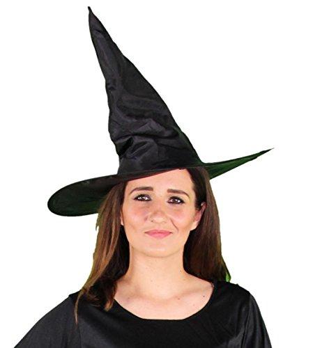 Foxxeo 35248   schwarzer Hexenhut für Damen Halloween Horror Party schwarz Hexe Hut Kopfbedeckung