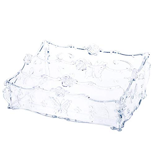YLB Cajas de visualización cosmética Caja de almacenamiento de escritorio de plástico Productos para el cuidado de la piel Caja de cosméticos Organización del hogar Titular de maquillaje (Color: Negro