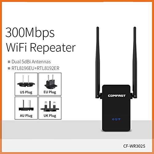 Rango WiFi repetidor Extensor inalámbrico Amplificador Wireless 300Mbps Mini Amplificador de señal IEEE802.11n / g/b de 2,4 GHz, de Alta Velocidad Wi-Fi de Largo Alcance óptimo Rendimiento