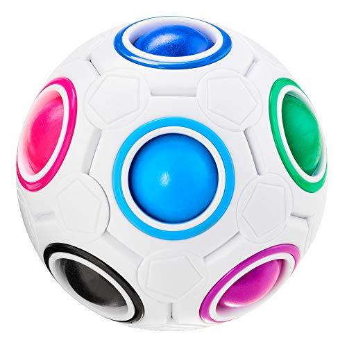 CUBIDI® Magique Rainbow Ball - Jeu d'adresse pour Adulte et Enfant - Jeu éducatif I Puzzle 3D I Casse-tête Enfant pour Fille et garçon