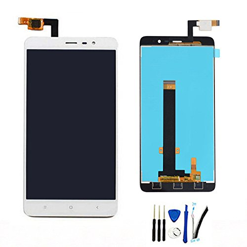 SOMEFUN Display di Ricambio per Xiaomi Redmi Note 3 Prime LCD Schermo Touch Screen Digitizer Assemblea per Redmi Note 3 PRO Bianco (Phone Length: 150mm)
