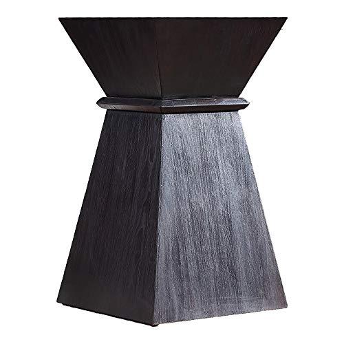 CuteLife Mesa de Centro Casera Tailandesa Simple Tabla De Extremo Sudeste Asiático Mesa Lateral Salón Consola Sofá Tabla Pequeña Mesa De Café (Color : Negro, tamaño : 45x45x80cm)