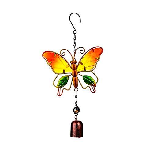 Windspiel, handgefertigt, Vogel-Windspiel für Wandtüren, Fenster, Windspiele, Hängeornamente Retro Home Windspiel, Dekoration, Basteln, Vögel, Schmetterlinge und Libellen Schmetterlinge