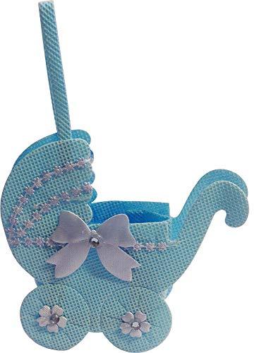 Générique Bleu Tissu 3D Bébé Pram ~ Sac à Bonbons, Souvenir (2 Fourni)