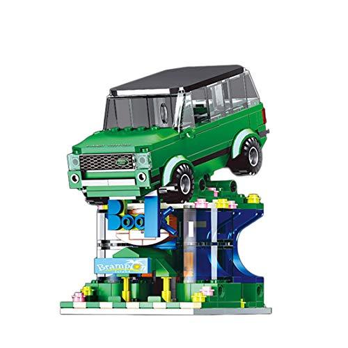 LAXI Tecnología, bloques de construcción para vista de coche y carretera, edificio compatible con Lego City(verde 10011-1)