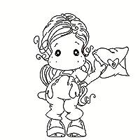 DIYのスクラップブッキング/フォトアルバムのための女の子の透明なクリアシリコーンスタンプ/シール装飾的なクリアスタンプje