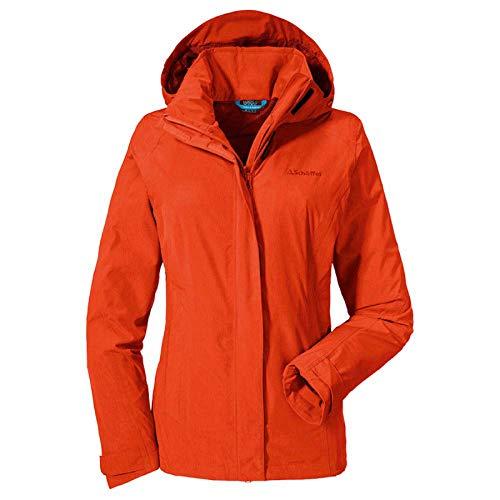adidas Damen Jacke Easy L3 Mel L Mandarin Red