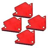 ZHITING 4 pezzi Magneti per Saldatura Supporto Magnetico Fisso 45°, 90°, 135° Frecce Welding Magnet Strumento di Saldatura 25 lb